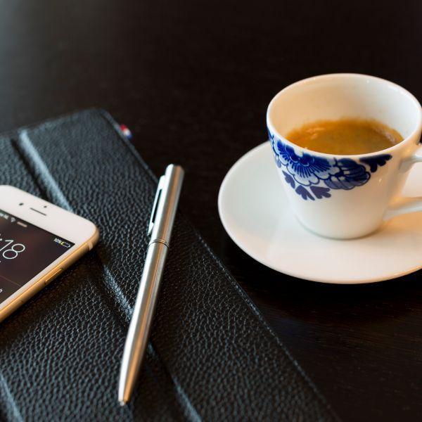 Marriott The Hague, koffie, pen & telefoon